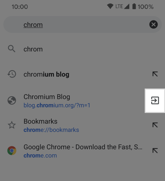 Switch to Tab on Android.max