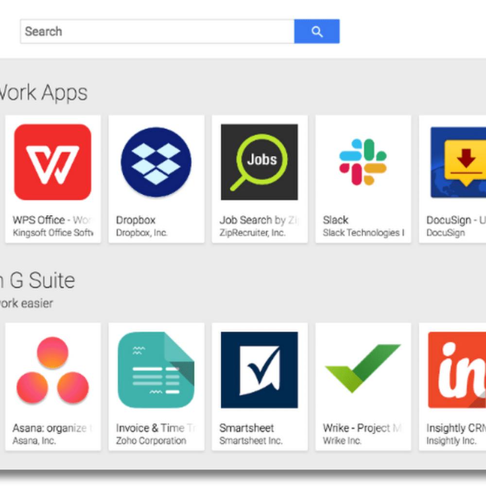 Google Play work apps