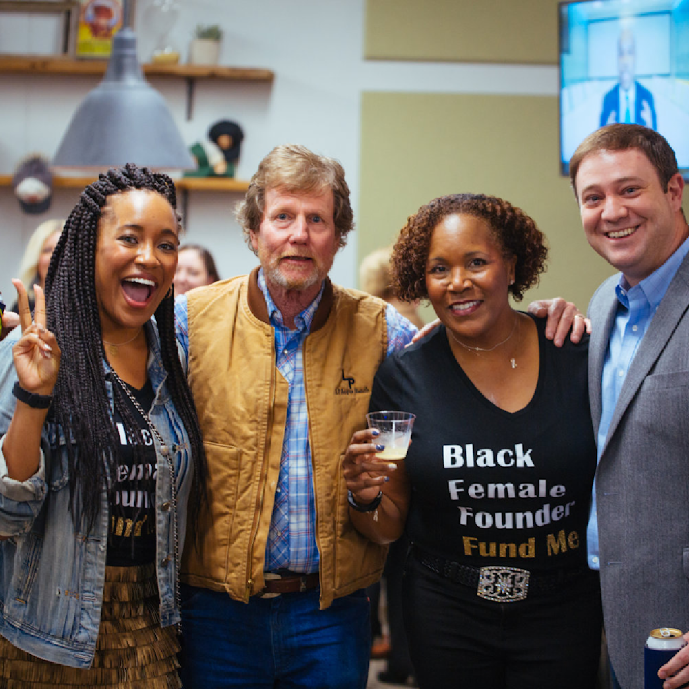 Ashlee and Kerry with Rooster McConaughey and Devon Laney at Birmingham's Innovation Depot