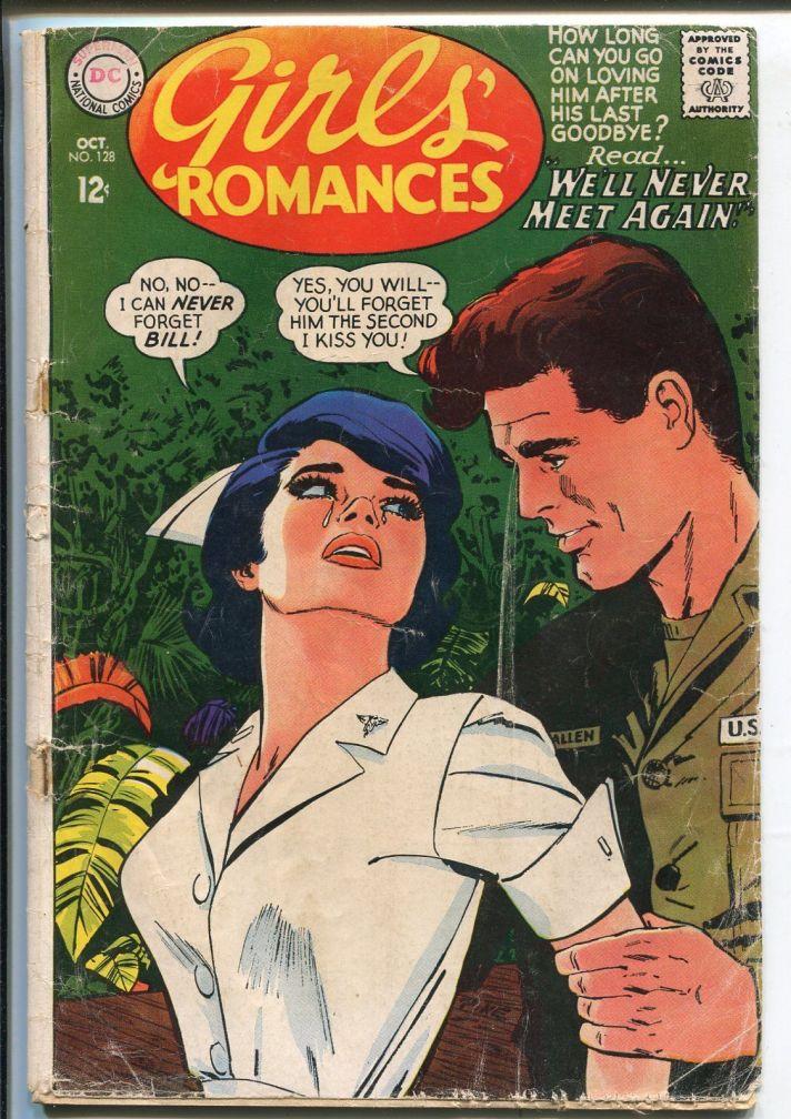 Girls' Romances #128 1967-DC-military nurse cover-Viet Nam war story-FR /  HipComic