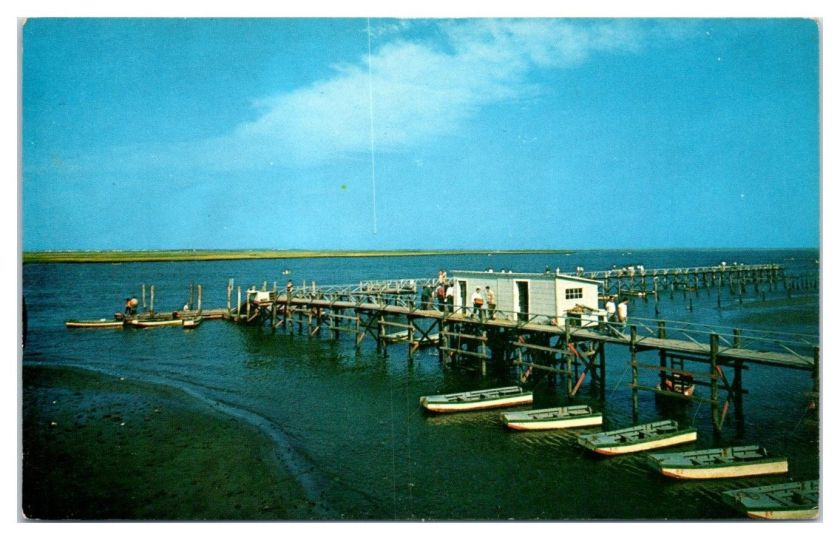 1950s/60s Good Fishing and Crabbing, Dad's Place, Wildwood, NJ Postcard / HipPostcard