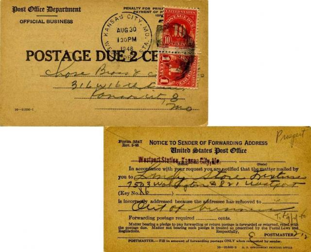 Postage Due Post Office Department