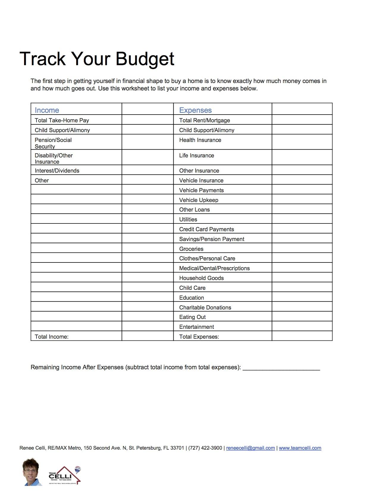 Worksheet For Home Damages