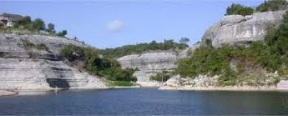 Cove between Bluffs on Lake Whitney