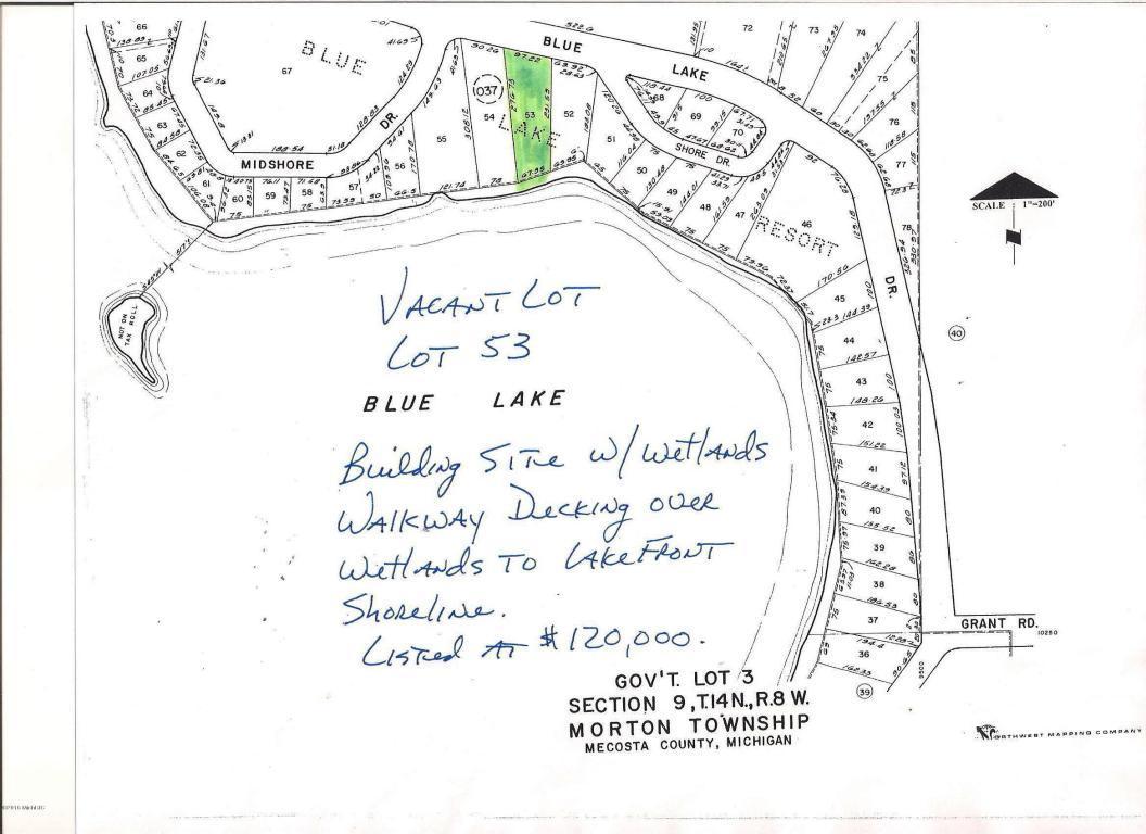 Listing East Blue Lake Drive Mecosta Mi Mls