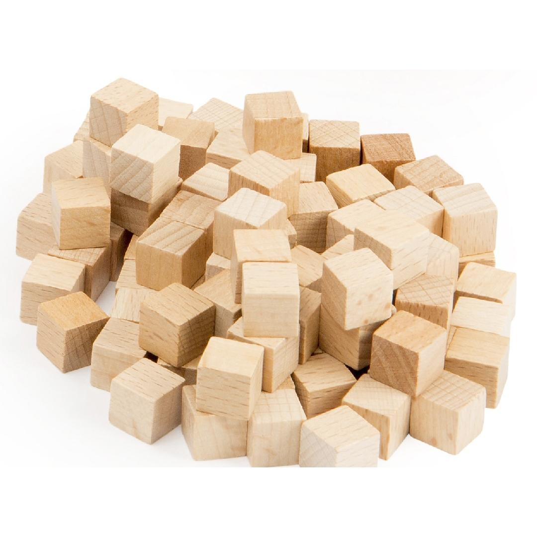 Base 10 Wooden Cubes 100pcs