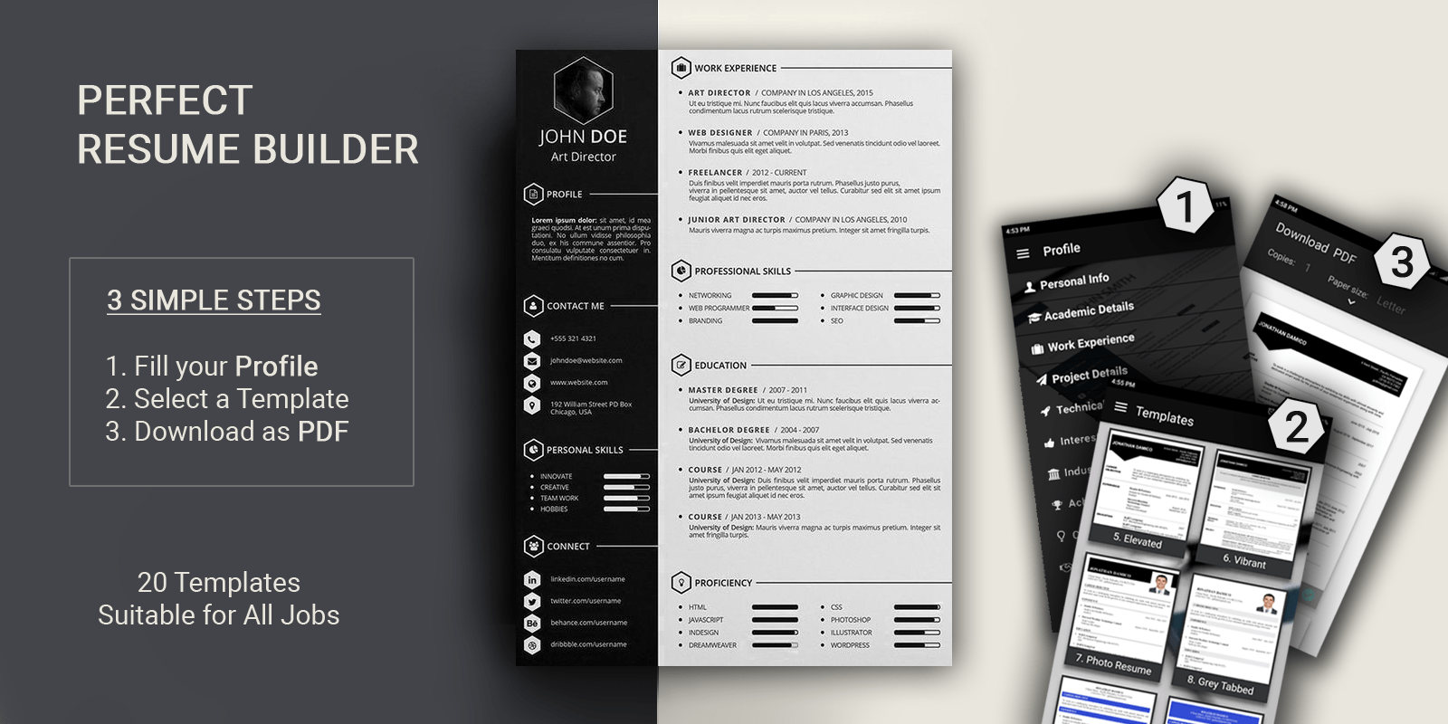 Resume Builder 2018   30  Resume Templates Free Resume Builder with 30  Resume templates suitable for various jobs   This is the first resume app with more resume formats