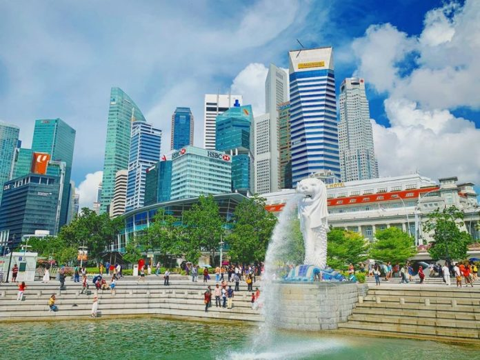 Kinh nghiệm du lịch Singapore, check in tại Merlion Park