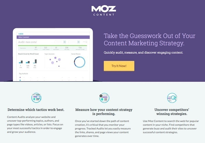 This picture shows marketers why Moz has one of the best landing pages you'll find online.