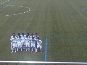 試合に臨むフロンターレU-15の先発選手たち