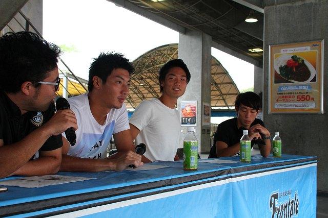 フロンターレU-18出身のトップチームの3選手、安藤駿介、板倉滉、三好康児が試合を解説した
