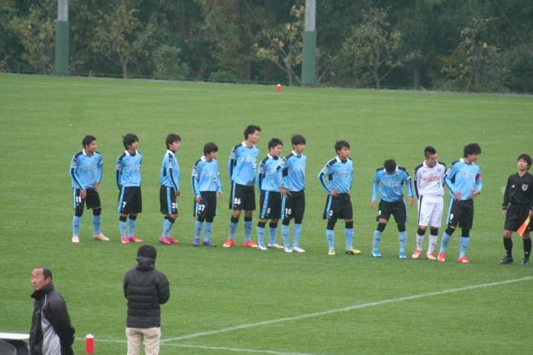 試合に臨むフロンターレU-18の選手たち