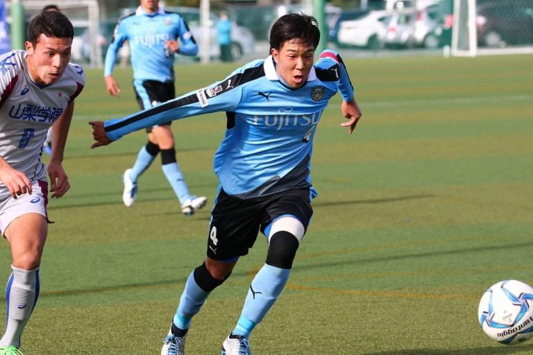 この日はCBでの先発、キャプテン長谷川隼選手