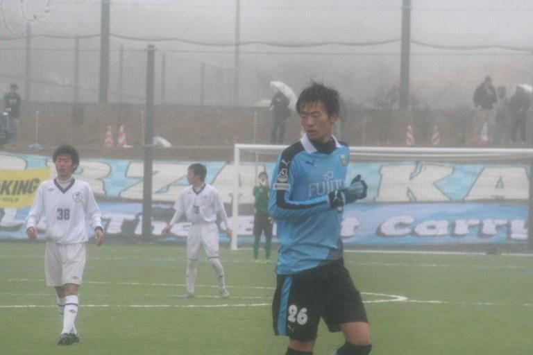 伊従啓太郎選手も練習試合に出場した