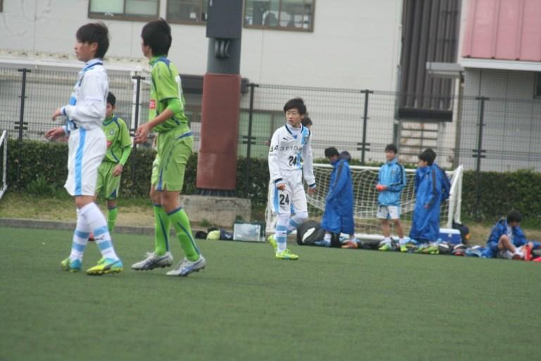 練習試合に出場した上野暁選手