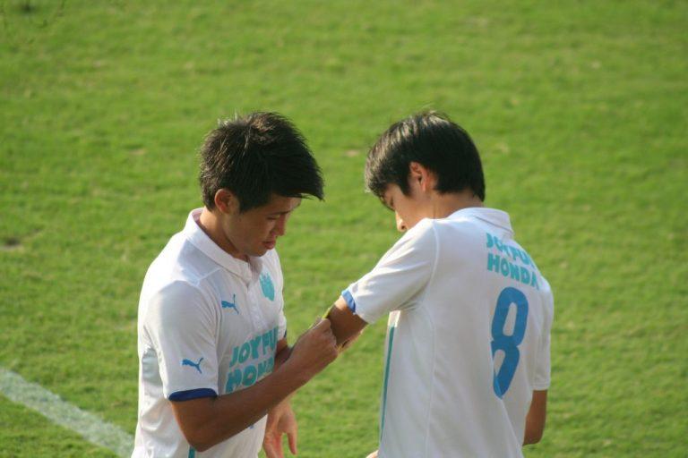 途中出場の吉田直矢選手。ゲームキャプテンも務めた
