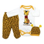 Baby's Giraffe Print Outfit Set