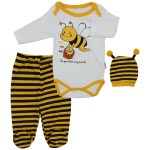Baby's Bee Design Outfit Set