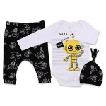 Baby Boy's Printed 3 Pieces Outfit Set
