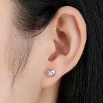 Women's Diamond Gemmed Cat Design Earrings