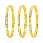 Women's 22 Carat Gold Plated Bracelet- 3 Pieces/ Small Size