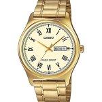 Men's Round Case Gold Metal Watch