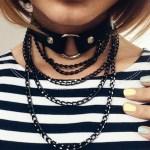 Women's Chain Black Collar