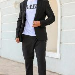 Men's Black Blazer Jacket