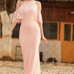 Laced Powder Evening Dress