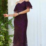 Women's Glitter Purple Evening Dress