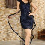Women's Sequin Navy Blue Dress