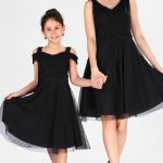 Mother Girl's Black Dress Combo