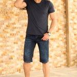Men's Blue Denim Capri Shorts
