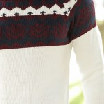 Men's Patterned Tricot Sweater