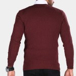 Men's Claret Red Tricot Sweater