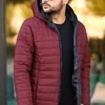 Men's Hooded Claret Red Coat