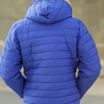 Hooded Saxe Coat