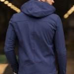 Men's Hooded Indigo Coat