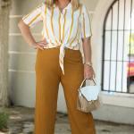 Women's Oversize Mustard Wide Legs Pants