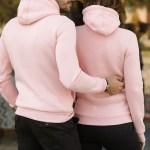 Unisex Hooded Kangaroo Pocket Pink Sweatshirt