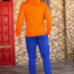 Men's Hooded Orange Sweat Suit