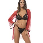 Women's 3 Pieces Tulle Red Set