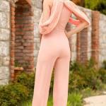 Women's Glitter Powder Rose Overall