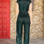 Women's Sequin Green Overall
