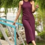 Women's Sleeveless Damson Overalls