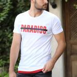 Printed White T-shirt