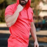 Men's Hooded Vermilion T-shirt