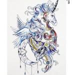 Unicorn Model Temporary Tattoo