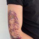 Woman Model Temporary Tattoo