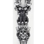 Skull Model Temporary Arm Tattoo